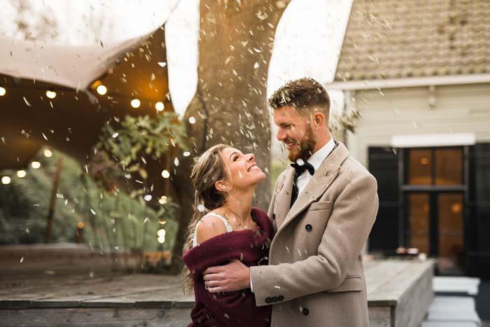 Winter bruiloft bij Paviljoen Puur