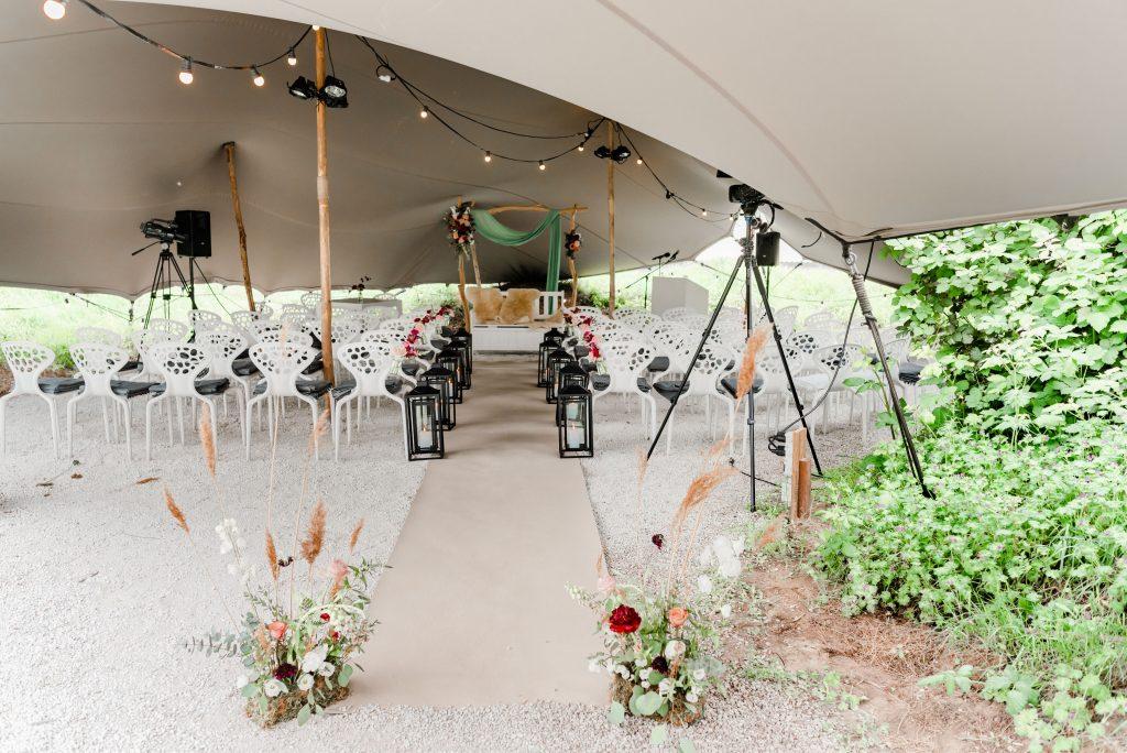bruiloft styling - paviljoen puur - ceremoniemeester