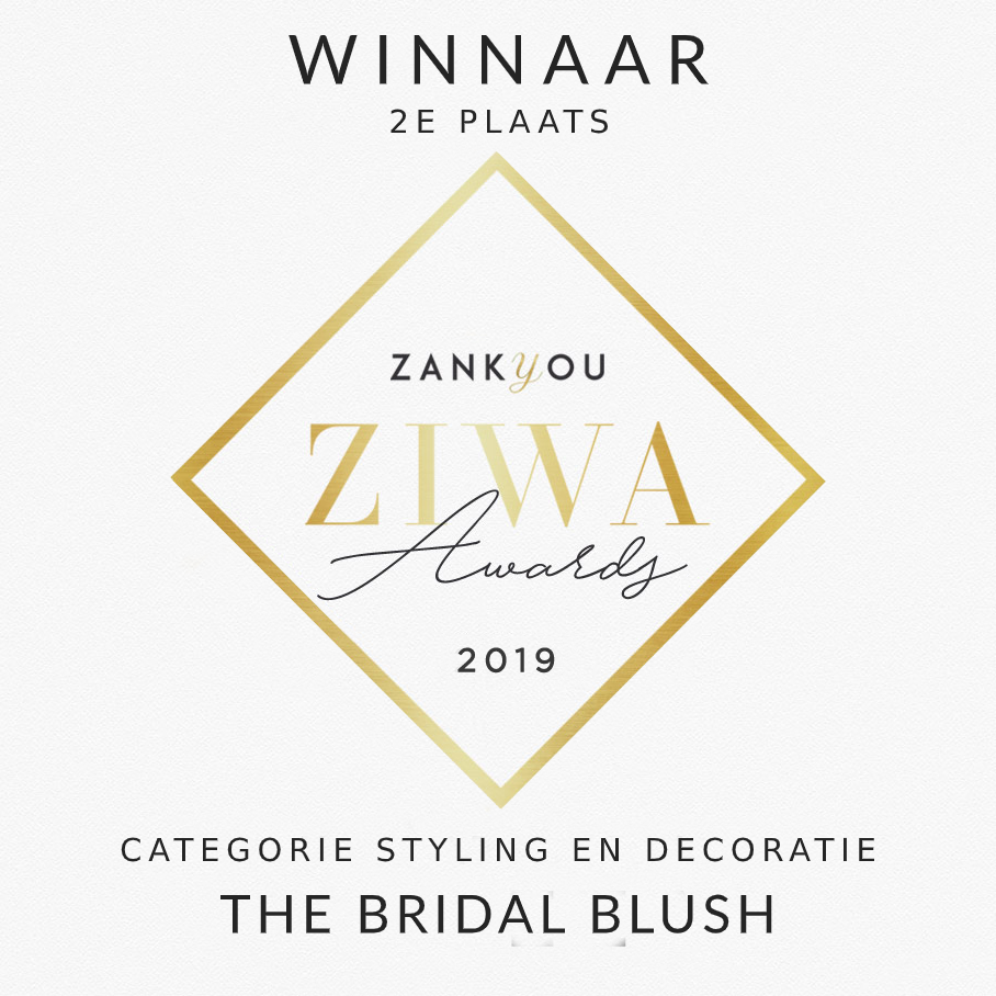 ziwa award the bridal blush styling decoratie