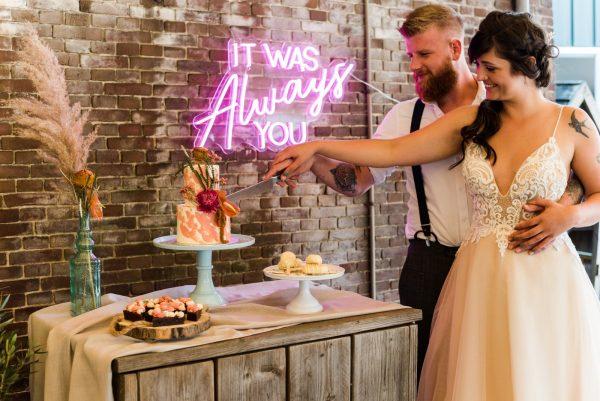 Neon sign huren bruiloft