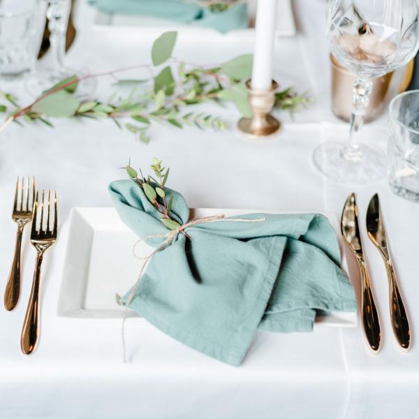 sage green servet the bridal blush