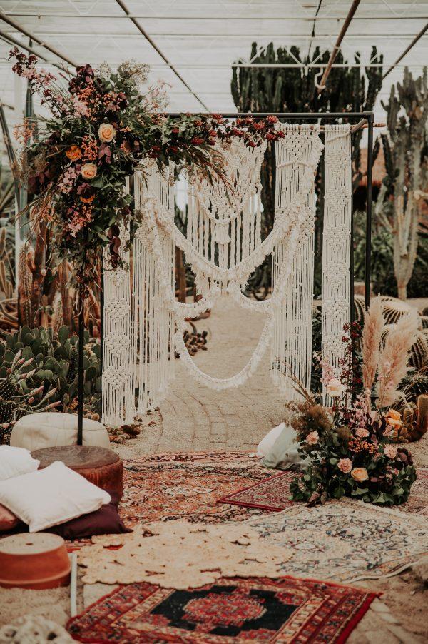backdrop macrame huren bruiloft
